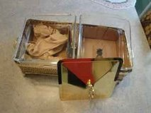 2 bin gold plated food server/warmer in Tomball, Texas